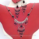 7 PRETTY GLASS EARRINGS & NECKLACE SETS HANDMADE PERUVIAN JEWELRY WHOLESALE ART
