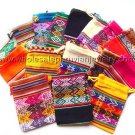 20 COLORFUL HANDMADE MANTA CLOTH INCA JEWELRY BAGS FROM PERU