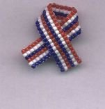 Beaded Awareness Ribbon - Patriotic & More