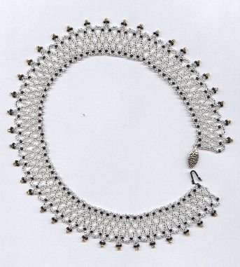 Artisan Bead Netted Collar