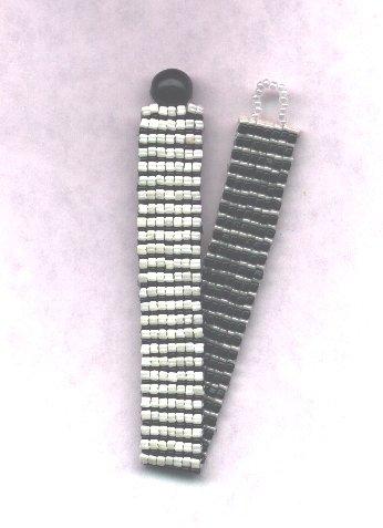 Reversible Beaded Bracelet - Black & White