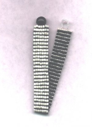 Reversible Beaded Bracelet - Black & White
