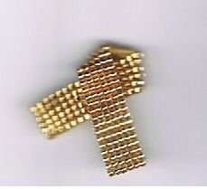Beaded Awareness Ribbon - Gold