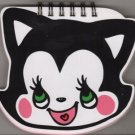 FUNNY PUNCH Cafe Cat Die Cut Black Cat Head Japanese