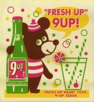 INCENTIVE Shopping Tote Bag Fresh Up Bear 9UP!