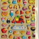 KAMIO Kitty Cats Italian Restaurant Japanese Sticker Set Kawaii