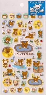 SAN-X Rilakkuma Bear Sticker Set At the Spa Kawaii Cute