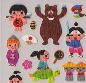 MIND WAVE Kintaro Golden Boy Stickers Japanese Folklore