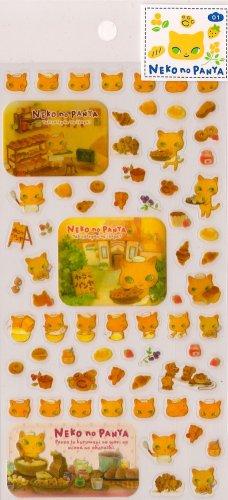 SAN-X Neko No Panya Bakery Cat Stickers