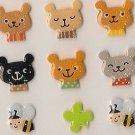 ARK ROAD Bears & Bees Sticker Set