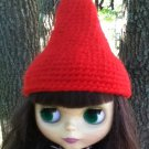 Red Gnome Hat for Blythe Doll