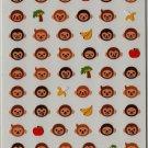 MIND WAVE Animal Face Mini Sticker Set: Monkey