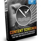 """Content Screener """"Get Rid Of Duplicate Content Plagiarism And Excel Website Keyword Density"""""""