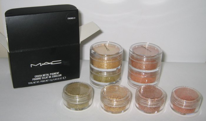 MAC - Stacked 2! 1/4 tsp Pigment Sample Set