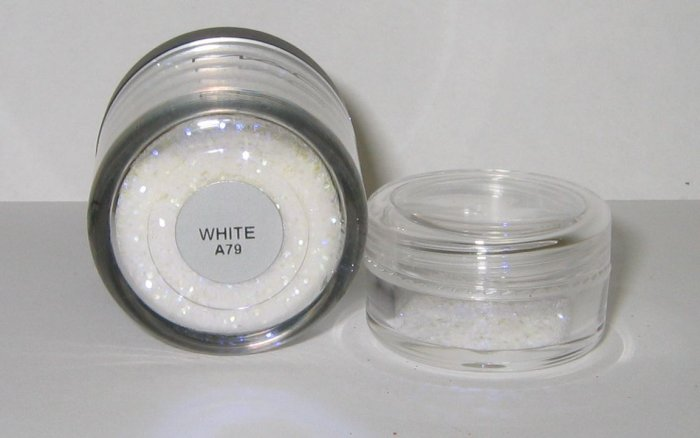 MAC - WHITE 1/4 tsp Glitter Brilliant Sample RARE! HTF!