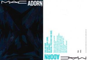 MAC Adorn Postcard - Turquoise Edition
