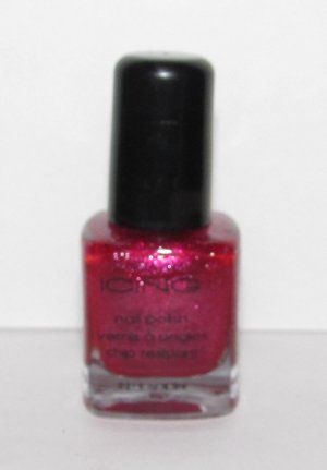Icing Nail Polish - NEW - Red with Glitter color!