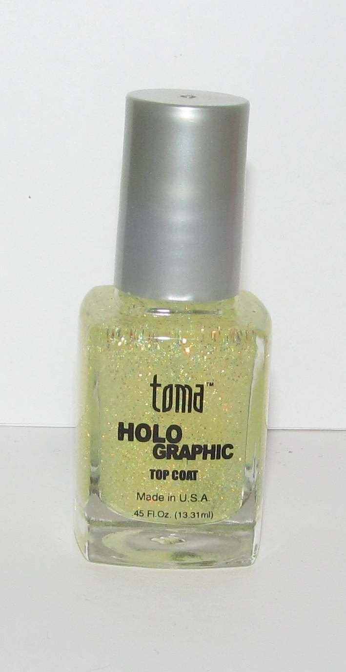 Toma Holographic Nail Polish Top Coat - Gold HT-2P