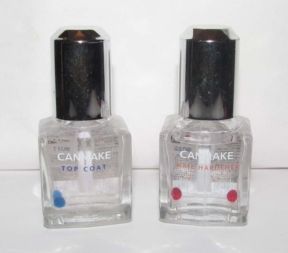 Canmake Nail Polish - Top Coat & Nail Hardener - NEW