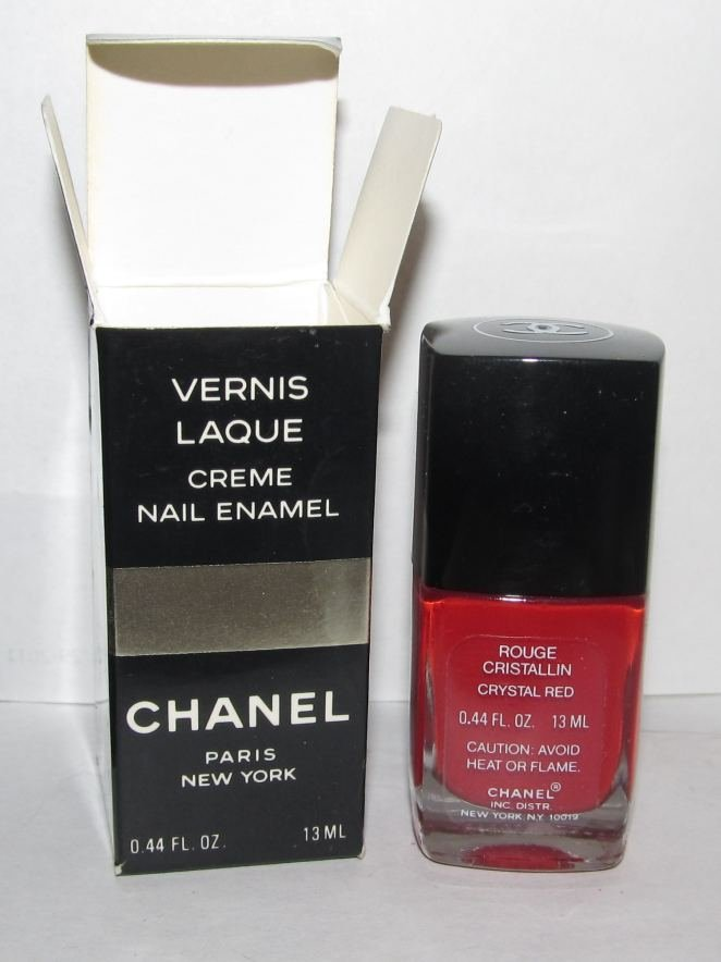 CHANEL Nail Polish - Rouge Cristallin (Crystal Red) - VHTF - RARE