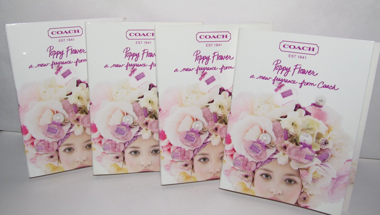 4 Coach Poppy Flower Eau de Parfum Sample Spray Vial Lot