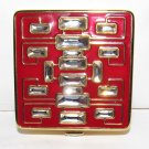 Estee Lauder Lucidity Compact - Red with clear Rhinestones - NEW