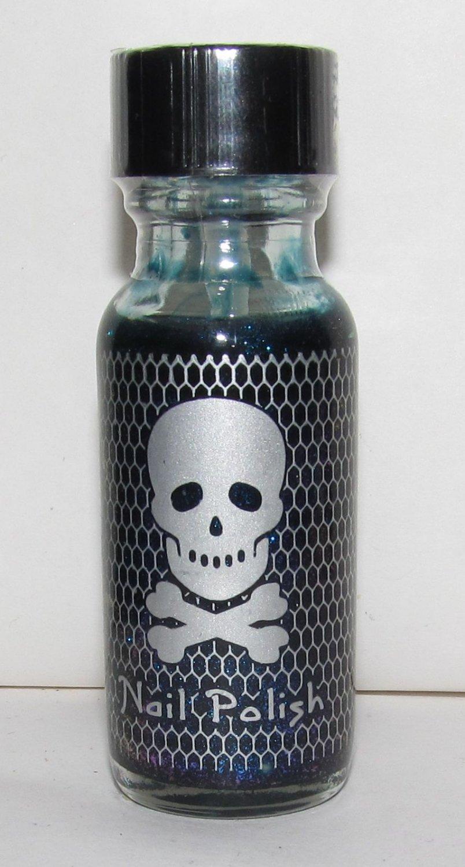 Hot Topic Nail Polish -Blue Glitter - NEW
