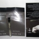 John Varvatos Artisan Black/The Fragrance - Eau de Toilette Sample Spray Vial Lot