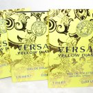 3 Versace Yellow Diamond Spray Vial Lot