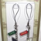 Attack on Titan - Phone Charm Strap - Eren and Levi - Wings of Freedom - NEW