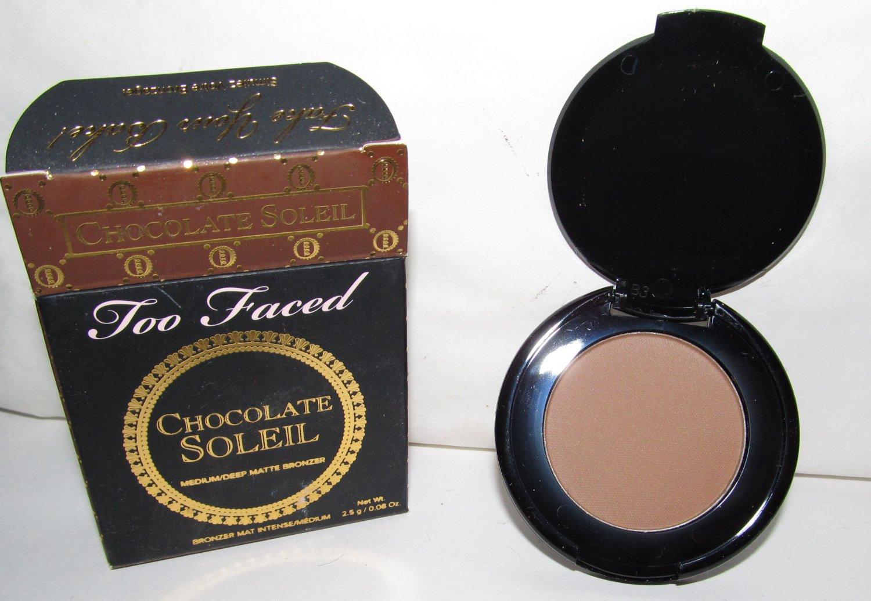Too Faced - Chocolate Soleil - Medium/Deep Matte Bronzer - Trial Size - NEW