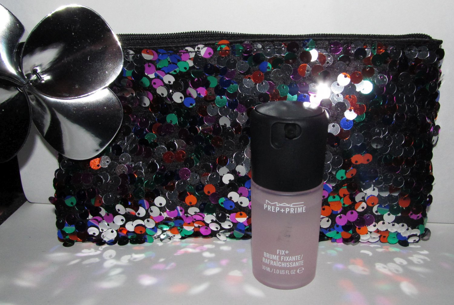 MAC Shiny Pretty Things Makeup Bag AND Prep + Prime Fix + Rose - NEW