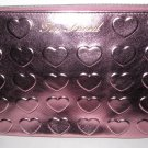 Too Faced - Pink Metallic Heart Makeup Bag - NEW