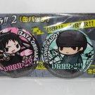 Durarara!!x2 - 2 Buttons Can Badges - Izaya Orihara & Kyohei Kadota - NEW