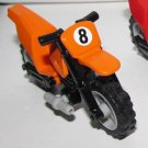 LEGO Orange Motorcycle Dirt Bike with Black Chassis and LBG Wheels with '8' Pattern