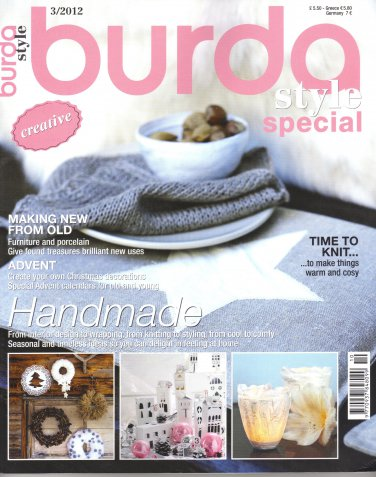 NEW Burda Style Special Creative English Magazine 3/2012 Uncut Folded Patterns