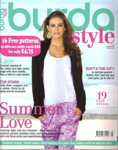 NEW Burda Magazine 05/2013 Uncut Folded Patterns US 2/4-24 (EUR 34-52) English