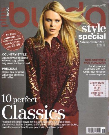 NEW Burda Plus Pattern Magazine Autumn/Winter 2013 US 14-26 EUR 44-54 English