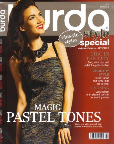 NEW Burda Style Special English Magazine Fall/Winter 2013 Uncut Folded Patterns