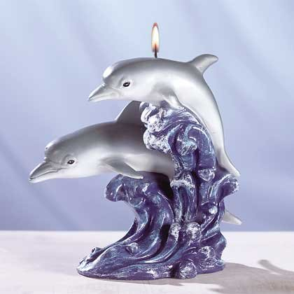 DIVING DOLPHIN CANDLE