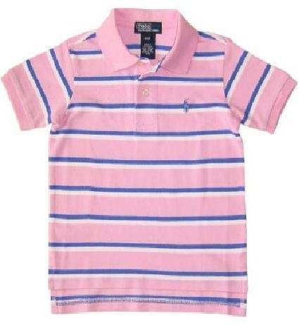 Ralph Lauren Classic Stripe Polo - Caramel Pink (SOLD)