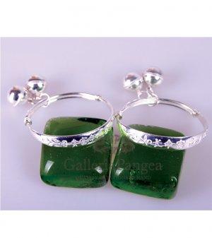 Children Silver Bracelet, 'Blessed' (pair)