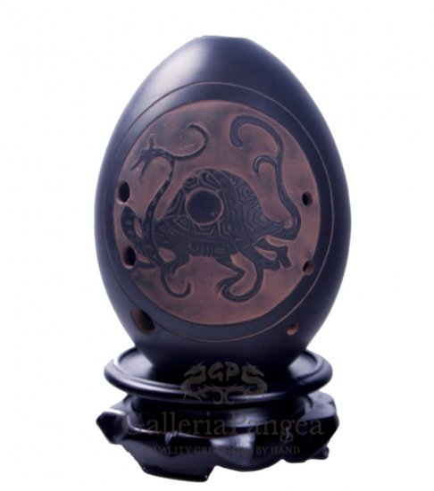 Black Pottery Ocarina, 'Black Tortoise'