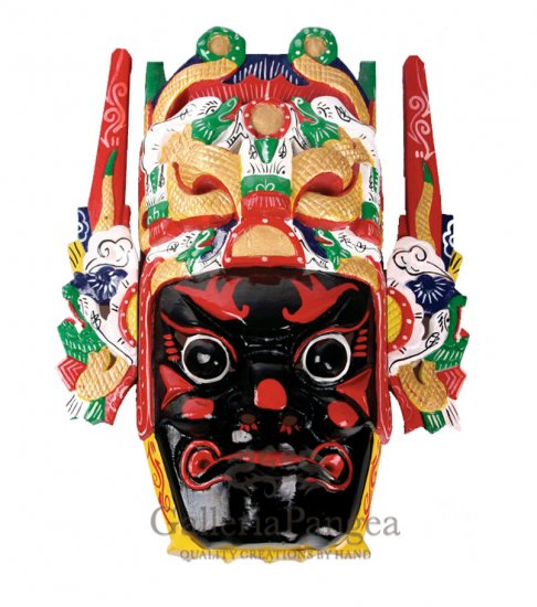 Wooden Nuo Mask, 'Zhang Fei'