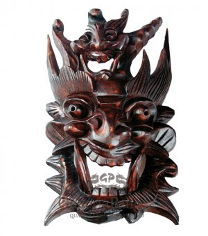 Wooden Nuo Mask, 'Home Guardian'