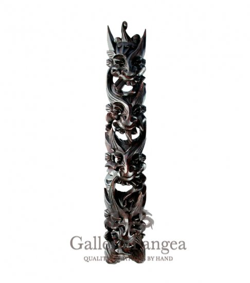 Wood Sculpture, 'Nuo Totem Plaque Wall Hanging'