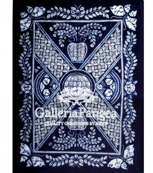 Tie-dye Table Cloth, 'X Pattern'