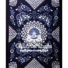 Tie-dye Bed Sheet, 'Sunflower with Butterfly'