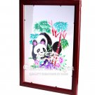 Paper Cut (framed), 'Girl Panda'