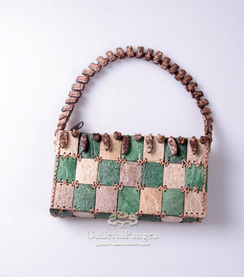 Handmade Purse, 'Coconut Green'